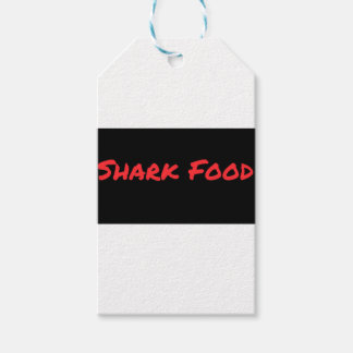 Shark Food Red Gift Tags