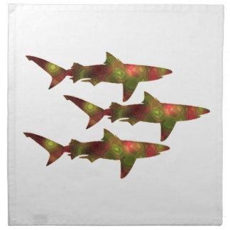 Shark Frenzy Napkin