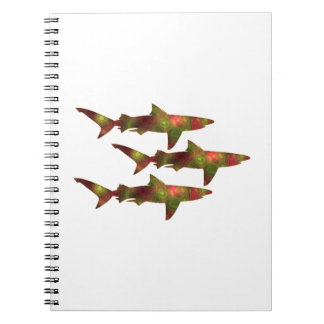 Shark Frenzy Spiral Notebook