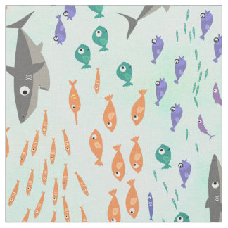 Shark Fun Fabric