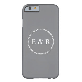 Shark Grey with White Wedding Detail Barely There iPhone 6 Case