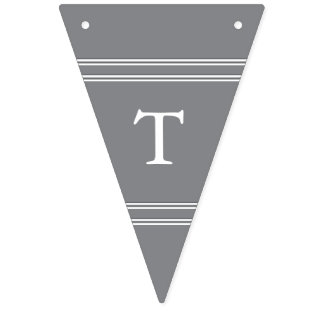 Shark Grey with White Wedding Detail Bunting