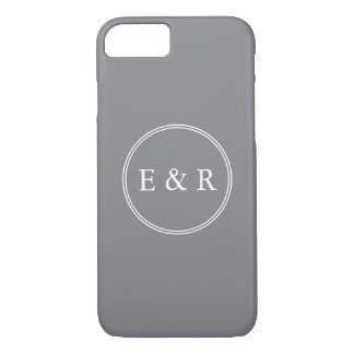 Shark Grey with White Wedding Detail iPhone 7 Case