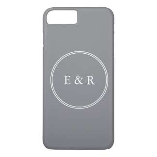 Shark Grey with White Wedding Detail iPhone 8 Plus/7 Plus Case