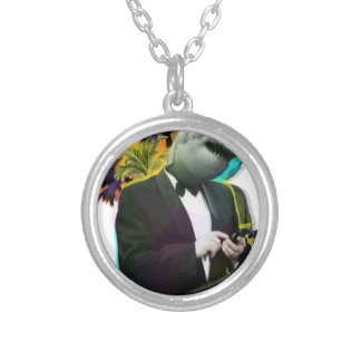 SHARK GUY SILVER PLATED NECKLACE