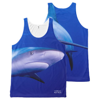 Shark image for All-Over-Printed-Unisex-Vest All-Over Print Tank Top
