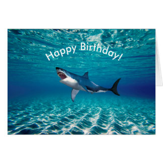 Shark image for Birthday greeting card