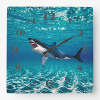 Shark image for Square Wall Clock