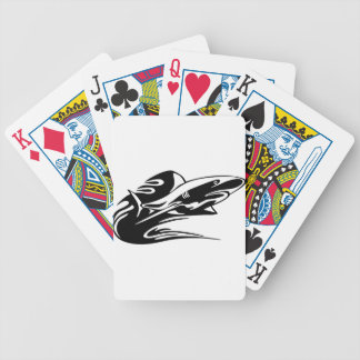 Shark in Flames Bicycle Playing Cards