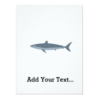 Shark in grey 17 cm x 22 cm invitation card