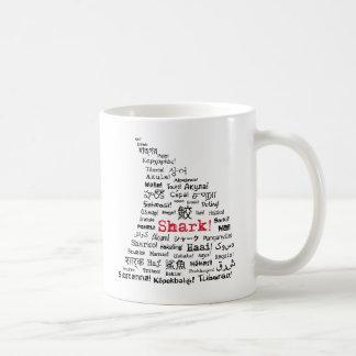 Shark! in Many Languages Coffee Mug