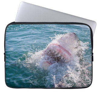 Shark in the water laptop sleeve