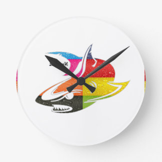 SHARK INCA MAYA DRCHOS.COM 08V CUSTOMIZABLE PRODUC ROUND CLOCK
