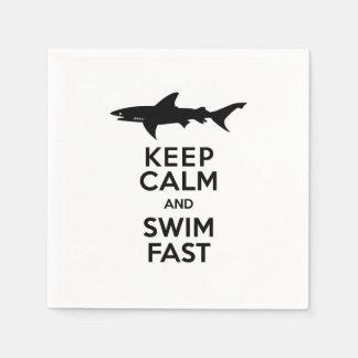 Shark - Keep Calm and Swim Fast Paper Serviettes