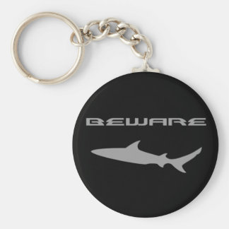 Shark Basic Round Button Key Ring