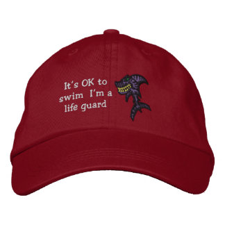 Shark Life guard Embroidered Hat