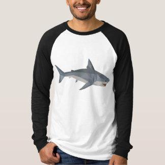 Shark Low Poly print, long sleeve shirt, Geometric T-Shirt
