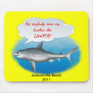 Shark- my brother the LAWYER Mouse Pad