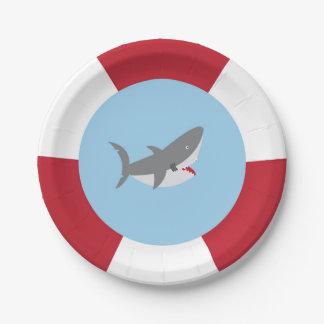 Shark Paper Plates