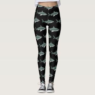 Shark pattern image on Women's Leggings