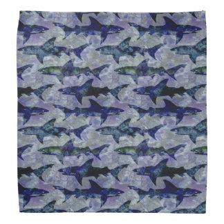 Shark Pattern in Purple and Blue Bandana