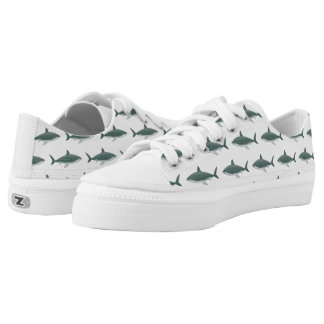 Shark pattern Zipz Low Top Shoes, US Men Printed Shoes