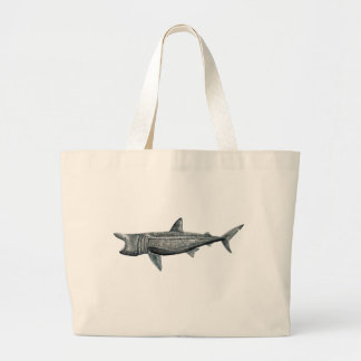 Shark pilgrim large tote bag