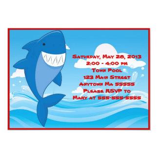 Shark Pool Party Birthday Invitation