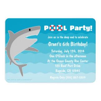 Shark Pool Party Invitation