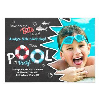 Shark Pool party invitation Shark birthday invite