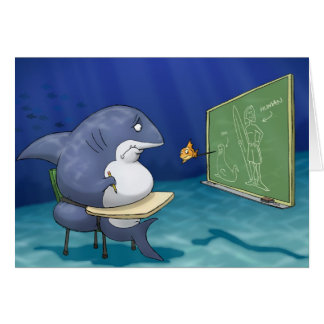 Shark School Card