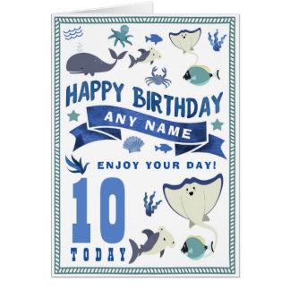 Shark Sea Fish Personalised Birthday Card