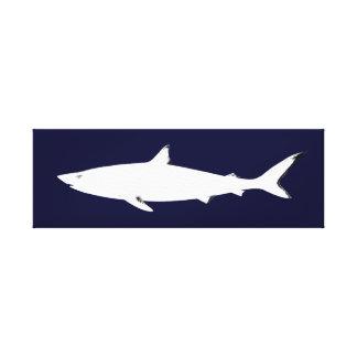 shark sea-themed décor canvas print