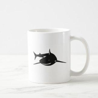 Shark shark cutting picture goods basic white mug