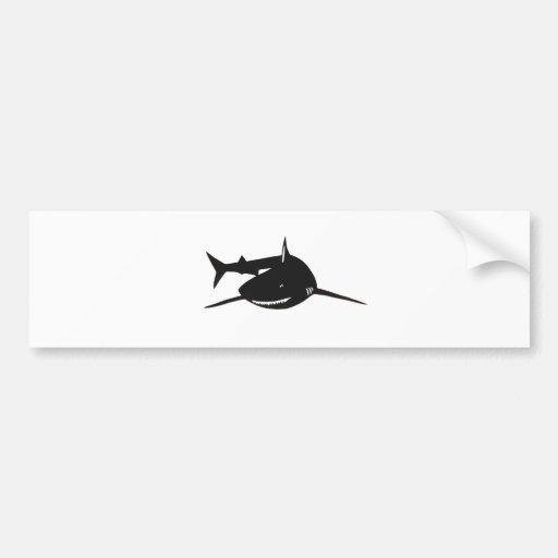 Shark shark cutting picture goods bumper stickers