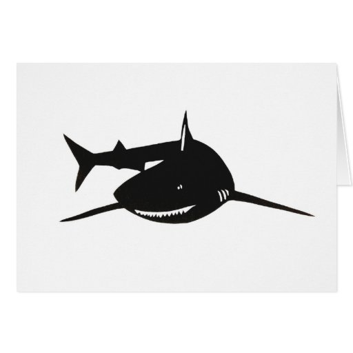 Shark shark cutting picture goods cards