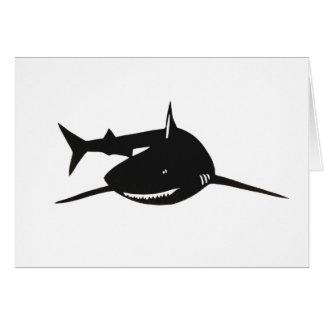 Shark shark cutting picture goods greeting card