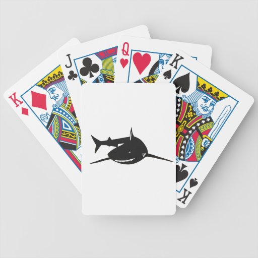 Shark shark cutting picture goods bicycle poker cards
