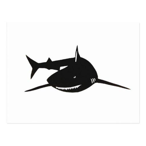 Shark shark cutting picture goods post card