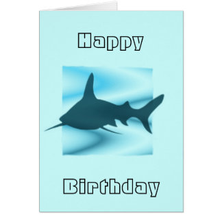 Shark silhouette Greetings Card