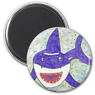 Shark Species 6 Cm Round Magnet