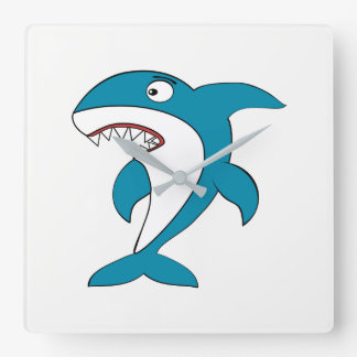 Shark Square Wall Clock