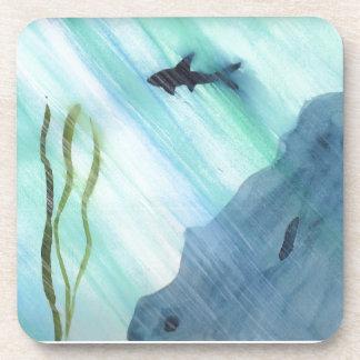 Shark Swimming Beverage Coaster