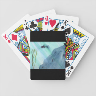 Shark Swimming Bicycle Playing Cards