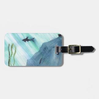 Shark Swimming Luggage Tag
