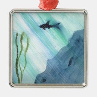 Shark Swimming Metal Ornament