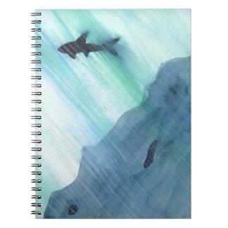 Shark Swimming Notebooks