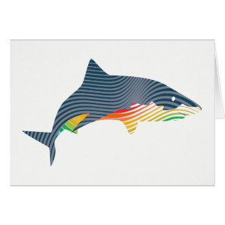 Shark Swoosh Illustration Card