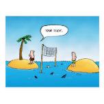 Shark Volleyball Funny Cartoon Postcard Postcards