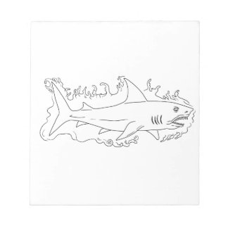 Shark Water Side Drawing Notepad